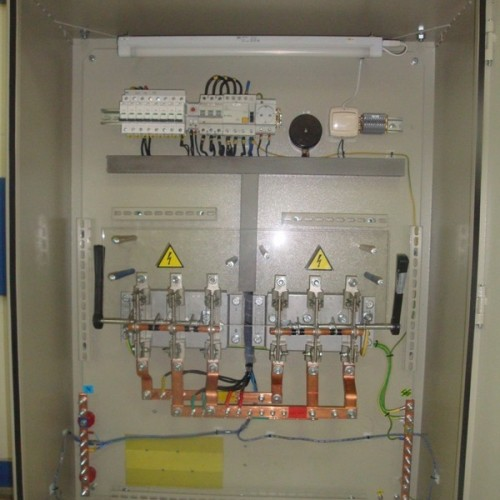 Cabinets of relay protection of substation 330 kV